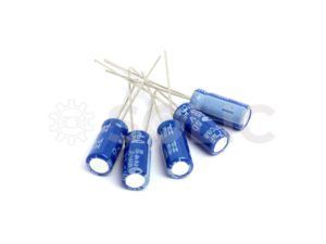 47 uF PCB mount electrolytic capacitor